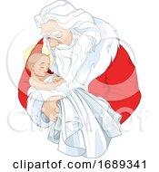 Santa Claus Holding Baby Jesus