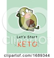 Screaming Avocado And Lets Start Keto Text