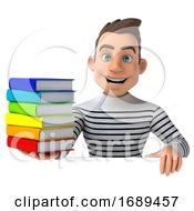Poster, Art Print Of 3d Breton Man On A White Background