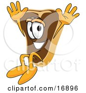 Clipart Picture Of A Meat Beef Steak Mascot Cartoon Character Jumping
