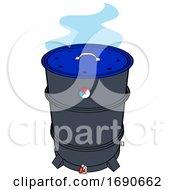 Drum Barrel Bbq Smoker With Blue Smoke