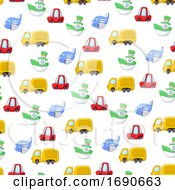 Seamless Pattern Background Of Transport Toys