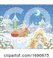 Santa Going Down A Chimney