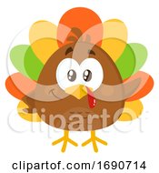 Cartoon Colorful Turkey Bird