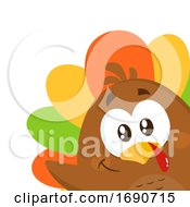 Poster, Art Print Of Colorful Turkey Bird Peeking