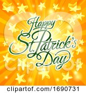 Happy St Patricks Day Greeting With Stars