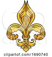 Fleur De Lis Gold Graphic Design