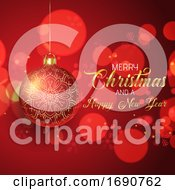 Christmas Background With Hanging Bauble
