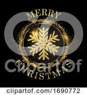 Glitter Snowflake Christmas Background