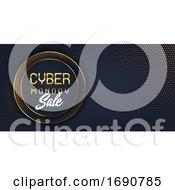Poster, Art Print Of Modern Cyber Monday Sale Banner