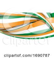 Ireland Ribbon Flag Background