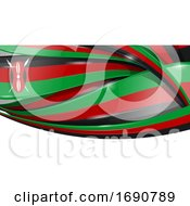 Kenya Ribbon Flag Background