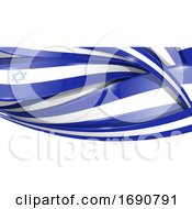 Israel Ribbon Flag Background