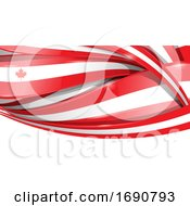 Canadian Ribbon Flag Background