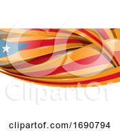 Catalan Ribbon Flag Background