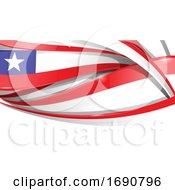Chile Ribbon Flag Background