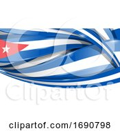 Cuban Ribbon Flag Background