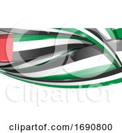 United Emirates Ribbon Flag Background