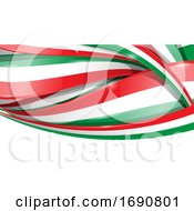 Italian Or Mexican Ribbon Flag Background