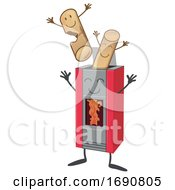 Cartoon Pellet Stove Mascot