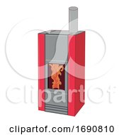 Cartoon Pellet Stove