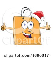 Cartoon Christmas Shopping Bag Mascot