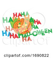Laughing Halloween Jackolantern Pumpkin