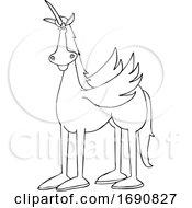 Cartoon Winged Unicorn