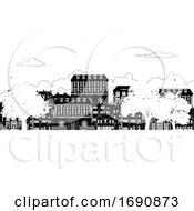 Houses Victorian Georgian Silhouettes Row Street