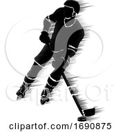 Ice Hockey Player Silhouette Concept