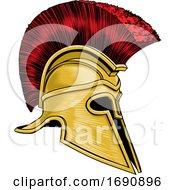Poster, Art Print Of Ancient Greek Spartan Gladiator Warrior Helmet