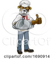 Bulldog Chef Mascot Cartoon Character
