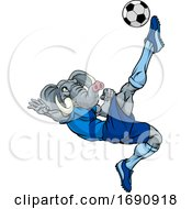 Elephant Soccer Football Player Sports Mascot