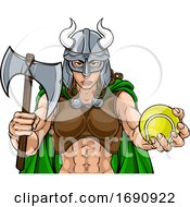 Viking Female Gladiator Tennis Warrior Woman