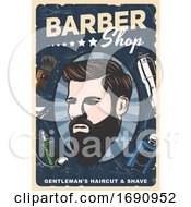 Barber Shop Gentlemans Haircut And Shave Design