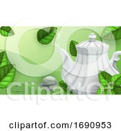 Poster, Art Print Of Green Tea Background