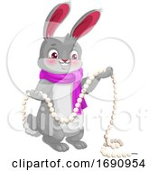 Rabbit With A Garland