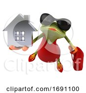 Poster, Art Print Of 3d Female Frog On A White Background
