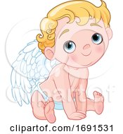 Cute Blond Baby Cupid by Pushkin