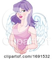 Poster, Art Print Of Valentines Day Female Cupid Or Match Maker