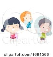 Kids Adjective Dry Illustration