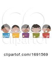 Kids Black Laptop Illustration