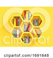 Beehive Book Shelf Illustration