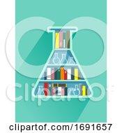 Flask Book Shelf Illustration