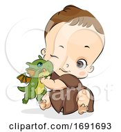 Kid Boy Baby Toddler Pet Dragon Illustration