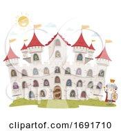 Kid Boy Knight Castle Alphabet Illustration