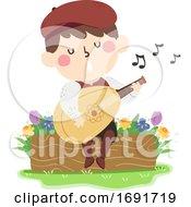 Poster, Art Print Of Kid Boy Minstrel Illustration
