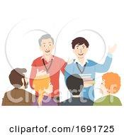 Teachers Introduce New Teacher Illustration