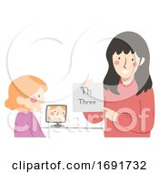 Kid Girl Speech Therapy Illustration