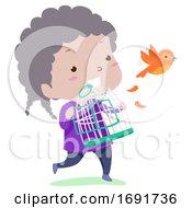 Kid Girl Adjective Free Illustration
